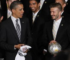 Each week, Sportsmail has a caption competition for you to battle it out for a brilliant prize of a Sportsbook bet with our friends at Paddy Power. This week's picture featuring David Beckham and Barack Obama. Major League Soccer, Us Presidents, David Beckham, Barack Obama, Eye Candy, Competition, Nfl, In This Moment, Celebrities