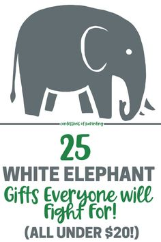 'Tis the season for white elephant gift exchange parties. Here's a list of 25 laugh-worthy white elephant gift ideas that everyone will be fighting for. #christmas #whiteelephant #gifts #funnygifts #under$20