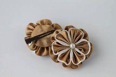 Girl headband kanzashi kanzashi flowers 2 satin by Schrejderiha