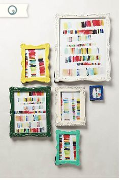 Dwell Beautiful makes some lovely and easy watercolor art as a part of her Anthropologie Hack series. So simple that anyone can do it!