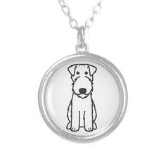 Kerry Blue Terrier Dog Cartoon Custom Necklace