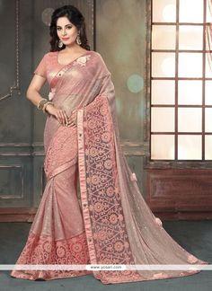 Modish Rose Pink Fancy Fabric Classic Designer Saree Model: YOSAR8815