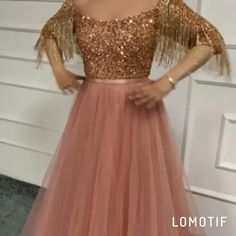 Rose Gold Sequined A-line Evening Dresses.**Rush order please contact us ** Processing time business days after payment . Party Wear Long Gowns, Party Wear Indian Dresses, Indian Bridal Outfits, Dress Indian Style, Indian Fashion Dresses, Indian Wedding Gowns, Desi Wedding Dresses, Pretty Prom Dresses, A Line Evening Dress