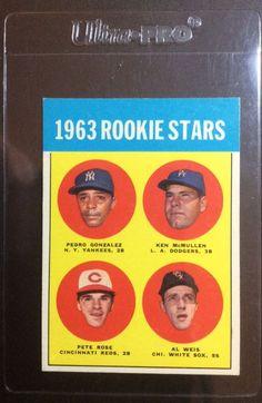 1963 Topps Pete Rose Cincinnati Reds #537 Baseball Card #CincinnatiReds
