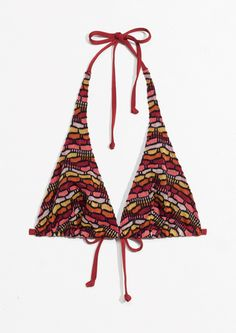 72dee7cca79 Other Stories | Triangle Bra in Red Triangle Bra, Chiara Ferragni, White  Denim