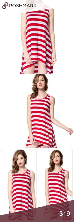20% Bundles‼️‼️ Striped High Low Dress!Sizes run approximately one size small. XL = Large ✅ Please see size chart. I am not able to give opinions on if items will fit. Please use the chart along with your body type for best approximations ✅ OSMF= Small/Medium Dresses High Low