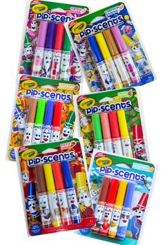 Crayola Pip-scents Markers-these things smell so good! Available at Target. Art Supplies Storage, Arts And Crafts Supplies, Frozen Coloring Pages, Pusheen Cute, Kids Bedroom Designs, Writing Art, Back To School Supplies, Too Cool For School, Gel Pens