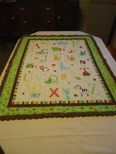 Handmade Gender Neutral Baby Quilt by JaylaCreations on Etsy, $25.00