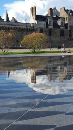 Miroir d'eau - Nantes - Chateau des ducs