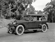 "San Francisco circa 1919. ""Haynes touring car."" Accessorized with a dapper ""California top."""
