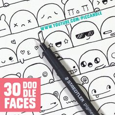 Video ~ 30 Cute Faces / Expressions to Doodle | par Pic Candle
