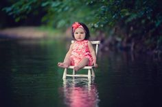 baby girl, chair, water photography, magically, Lisa Karr Photography, Beloit Wisconsin, Find on Facebook