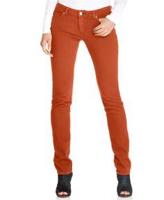 MICHAEL Michael Kors Jeans, Skinny Colored Denim - Womens Pants - Macy's