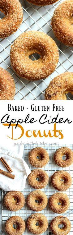 Baked Gluten-Free Apple Cider Donuts (Just like Farm Fresh Donuts!) | Garden in the Kitchen #donuts #appleciderdonut #fallbaking #apples #Baked #bakedgoods