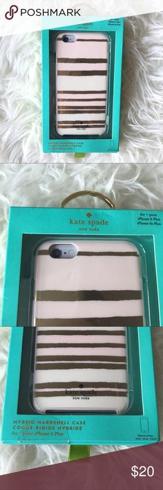 Kate Spade Capri Stripe iPhone 6 Plus case New in box. Packaging shows mild wear kate spade Accessories Phone Cases