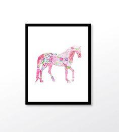 Watercolor Horse art Horse Art Print Horse Poster