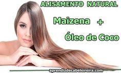 Alisamento Natural com Maizena e Óleo de Coco Beauty Care, Beauty Hacks, Hair Health, Spa Day, Hair Dos, Hair Hacks, Natural Health, New Look, Cool Hairstyles