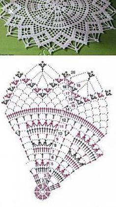 Crochet Mandala Pattern, Doily Patterns, Crochet Chart, Crochet Stitches, Crochet Top, Crochet Patterns, Lace Doilies, Crochet Doilies, Different Patterns