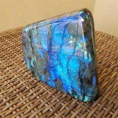 Large 8lb Labradorite Blue Flashy Freestanding Display Centerpiece Crystal from CrystalRockStar!  #labradorite #crystals #crystalhealing #interiordecor