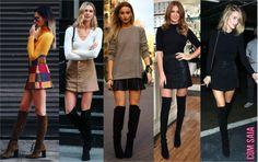 25 ideias pra colocar a bota over-the-knee em prática - Fashionismo
