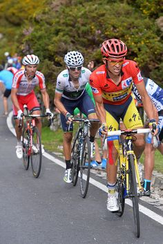 69th Tour of Spain 2014 / Stage 15 CONTADOR Alberto Red Leader jersey / VALVERDE…