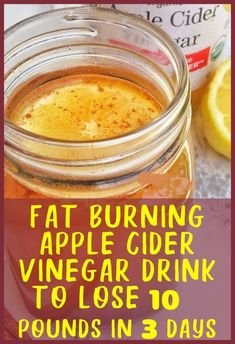 Here is a powerful apple cider vinegar drink to lose 10 pounds in 3 days at home without worrying about taking over the counter diet pills. If you have been trying to find a natural remedy for fast weight loss, this is it! Apple cider vinegar has tons of Weight Loss Meals, Weight Loss Drinks, Fast Weight Loss, How To Lose Weight Fast, Loose Weight, Fat Fast, Weight Loss Challenge, Weight Loss Smoothies, Weight Loss Program