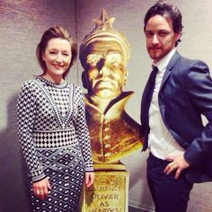 @OlivierAwards A huge thank you to our nominations hosts: #Oliviers winner #LesleyManville & #Oliviers 2015 nominee #JamesMcAvoy.