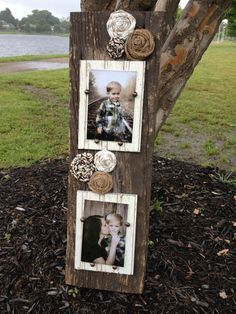 Barn wood Double Picture Frame