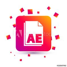 White AE file document icon isolated on white background. Vector Illustration - Buy this stock vector and explore similar vectors at Adobe Stock Color Palettes, Adobe, Vectors, Design Inspiration, Explore, Button, Lettering, Illustration, Art