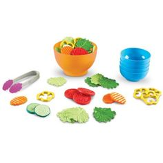 New Sprouts® Garden Fresh Salad Set-Food & Kitchen Sets-Imaginative & Role Play-Category - Learning Resources® Play Food Set, Healthy Eating Habits, Imaginative Play, Learning Resources, Learning Toys, Food Items, Educational Toys, Dog Food Recipes, Holiday Gifts