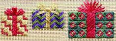 Two-Handed Stitcher needlepoint presents from Laura Perin