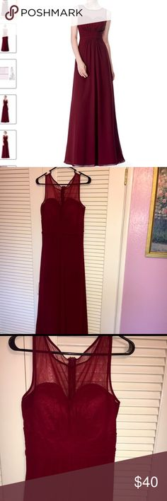 Wine Bridesmaid Dress Beautiful wine bridesmaid dress, worn once. Dresses Prom