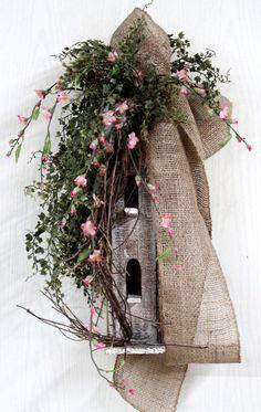 Primitive+Decor+Front+Door+Decor+Spring+Wreath+by+FloralsFromHome