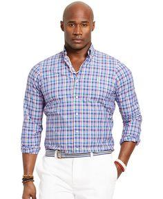 Polo Ralph Lauren Big & Tall Bengal-Striped Poplin Shirt