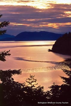 Chuckanut Drive Sunset ~ views of the San Juan Islands