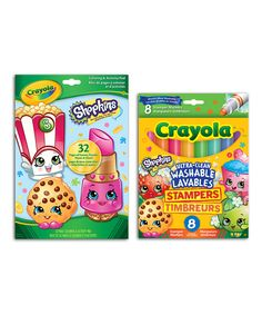 Another great find on #zulily! Shopkins Coloring Book & Marker Set by Shopkins™ #zulilyfinds