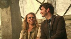 """""""50th Ten and Rose Tyler"""" - No, I'm pretty sure that's Billie Piper and David Tenant, who are pretty good friends. Ten couldn't see The Moment."""