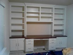 built in office cabinets with desk | Custom Cabinet Houston built in desk in the Heights Jared Meadors ...