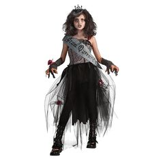 Bring thrills to the dance floor, with an undead delight! Our Deluxe Goth Prom Queen costume is simply to die for!