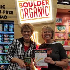 Kate our founder and president making new #glutenfree friends a @natprodexpo! #flashbackfriday #expowest #GF #boulderorganic #wemakesoupbetter