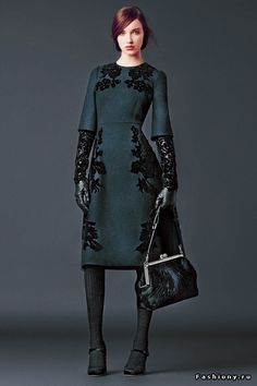 Dolce&Gabbana Осень-Зима 2014-2015 (Lookbook) Часть 2 / вязанные платья дольче габбана идеи фото
