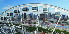 Experience Montréal from the sky and get an entirely new perspective on the city. Quebec, Montreal, Canada Travel, Canada Trip, New Perspective, Ferris Wheel, Trip Advisor, Photos, Fair Grounds