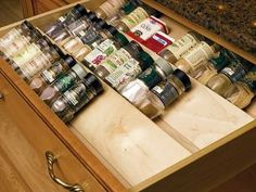 Spice Drawer Insert by Omega...  I love these drawer spice inserts for any kitchen. These wood ones can be trimmed to fit, but there... more »  $59.99 | KitchenSource