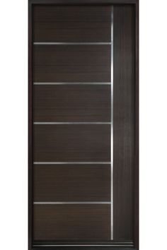 Modern Euro Collection Wood Entry Door in Espresso Finish 8ft