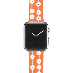 "Heidi Jennings ""Orange You Cute"" Tangerine White Apple Watch Strap"