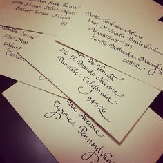 Envelope Addressing - Calligraphy Style {Calligraphy by Carrie}