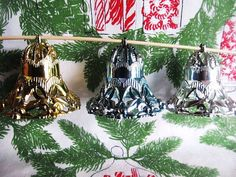 Vintage 1950s Set Of 3 Bells Filigree Christmas by AuntSuesVintage, $9.99
