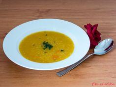 """Zeleninový krém z batátů s kuskusem: """"Hebká a krásně hustá polévka s příjemnou nasládlou chutí se hodí před pikantním druhým chodem. U nás ji mají v oblibě hlavně děti."""" Thai Red Curry, Ethnic Recipes, Food, Meals"""
