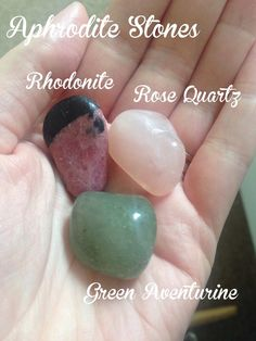 Each of the sets of goddess stones were created to resonate with the qualities of a particular goddess. In order to help channel her and bring qualities to your altar or meditation that the particular goddess possesses. Wicca Witchcraft, Magick, Venus, Aphrodite Aesthetic, Aphrodite Goddess, Greek Gods And Goddesses, Meditation Crystals, Goddess Of Love, Crystal Grid