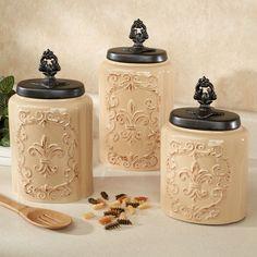 Fioritura Ceramic Kitchen Canister Set